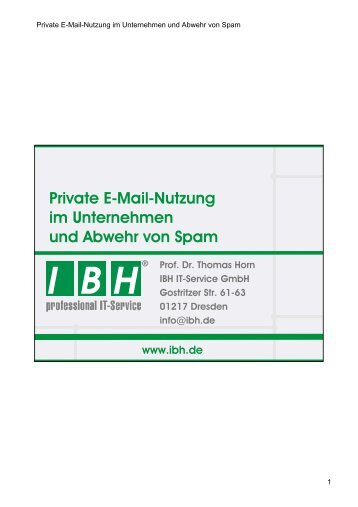PDF [5,6 MB] - bei der IBH IT-Service GmbH