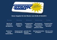 Unser Angebot für die Woche vom 03.06.-07.06.2013