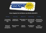 Unser Angebot für die Woche vom 05.08.-09.08.2013