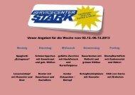 Unser Angebot für die Woche vom 02.12.-06.12.2013