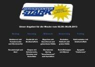 Unser Angebot für die Woche vom 02.09.-06.09.2013