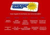 Unser Angebot für die Woche vom 14.10.-18.10.2013