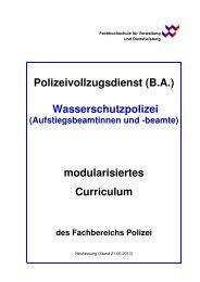Curriculum - FHVD - Fachhochschule für Verwaltung und ...