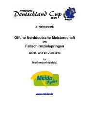 Norddeutsche Meisterschaft/ Deutschland Cup im Zielspringen 2013