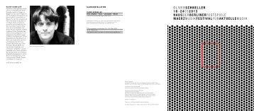 Programm [PDF, 425 KB] - Berliner Festspiele