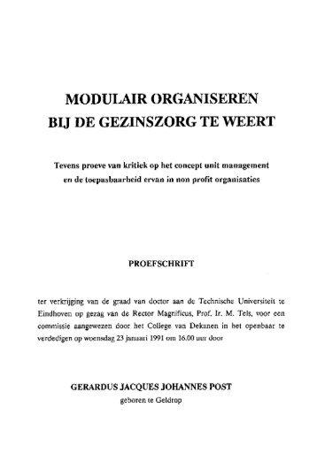 MODULAIR ORGANISEREN - Technische Universiteit Eindhoven