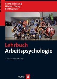 Lehrbuch Arbeitspsychologie - Buch.de