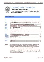 Modulkatalog - Friedolin - Friedrich-Schiller-Universität Jena