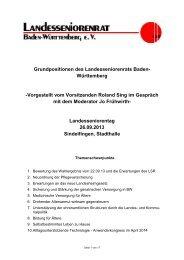 Grundpositionen des Landesseniorenrates - Der Landesseniorenrat ...