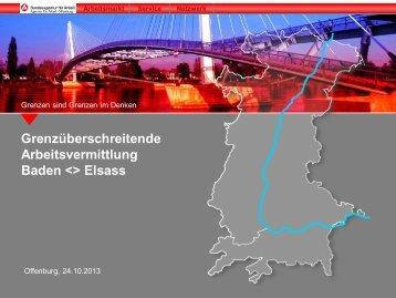 Grenzüberschreitende Arbeitsvermittlung Baden ... - Drehscheibe