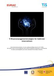 9 Wissensmanagementstrategien für Südtiroler ... - EURAC