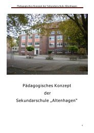 """Pädagogisches Konzept der Sekundarschule """"Altenhagen"""""""