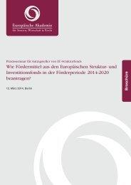 und Investitionsfonds in der Förderperiode 2014-2020 beantragen?