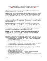 Illinois Longitudinal Data System Higher Education Consortium - IBHE