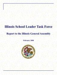 Illinois School Leader Task Force Report Final Distrib Copy - IBHE