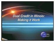 Dual Credit in Illinois - IBHE