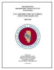 diversifying higher education faculty in illinois fall 2009 - IBHE