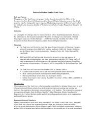 Protocol of School Leader Task Force Structure • Hear ... - IBHE
