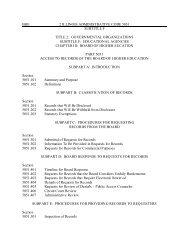 FOIA Administrative Rules - IBHE