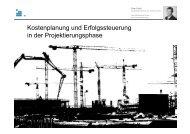 Kostenplanung und Erfolgssteuerung in der Projektierungsphase - IBI