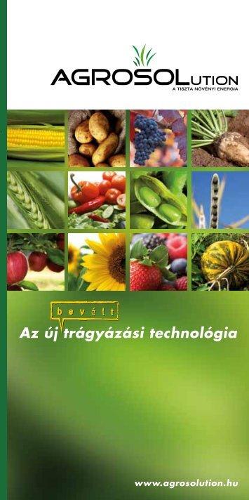 Az új trágyázási technológia - Agrosolution