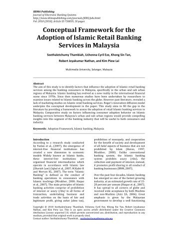 Conceptual Framework for the Adoption of ... - IBIMA Publishing