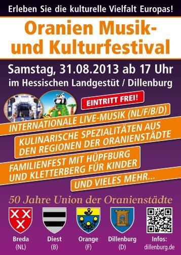 Oranien Musik- und Kulturfestival - Freizeit Mittelhessen
