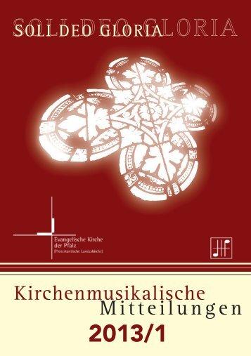 KMM 2013/1 - Evangelische Kirche der Pfalz