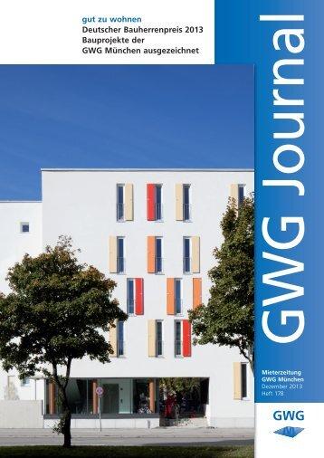 gut zu wohnen Deutscher Bauherrenpreis 2013 ... - GWG München