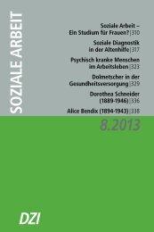 Dorothea Schneider - Deutsches Zentralinstitut für soziale Fragen
