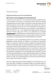 DZT lanciert neue Kampagne für die Oranierroute - Germany