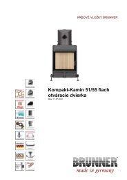 Kompakt-Kamin 51/55 flach otváracie dvierka made in ... - Brunner