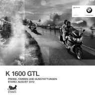 K 1600 GTL PREISE, FARBEN UND ... - BMW Motorrad Deutschland
