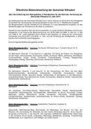 Öffentliche Bekanntmachung der Gemeinde Wilnsdorf