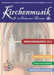 Jahresprogramm Münsterkonzerte 2013 - Bad Doberan