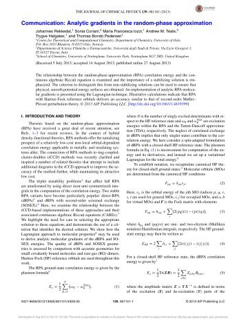 Analytic gradients in the random-phase approximation