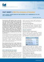 FACT SHEET | RBE Plus Analysis of Potential - IBIS Prof. Thome AG
