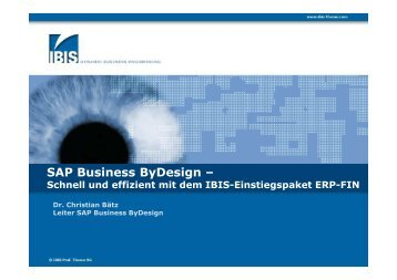 SAP Business ByDesign – - IBIS Prof. Thome AG