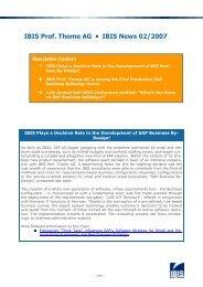 IBIS Prof. Thome AG • IBIS News 02/2007