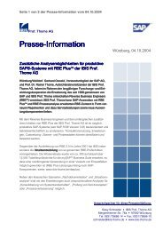 Presse-Information Information Information - IBIS Prof. Thome AG