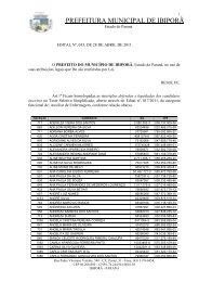 Homologação das Inscrições - Auxiliar de Enfermagem - Prefeitura ...