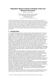 Regulation Based Linking of Strategic Goals and Business ... - IbisSoft
