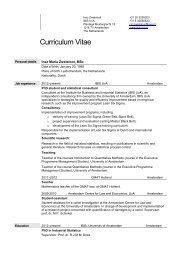 eigentijds curriculum vitae
