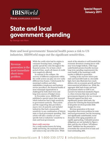 State and local government spending - IBISWorld