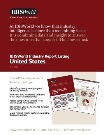 Industry Listing - IBISWorld