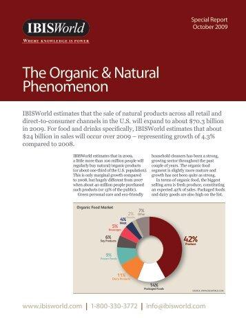 The organic & Natural Phenomenon - IBISWorld