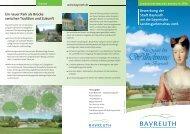 Flyer Landesgartenschau - Stadt Bayreuth