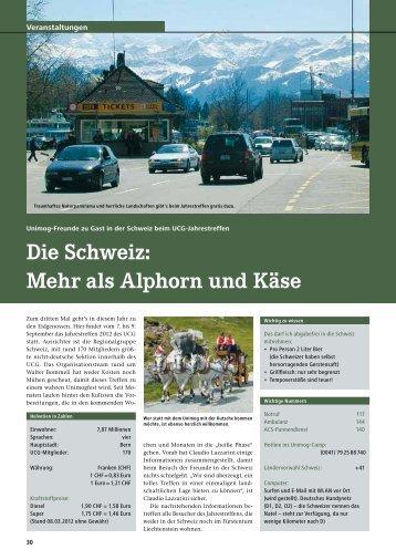 Die Schweiz: Mehr als Alphorn und Käse - Unimog Club Gaggenau ...
