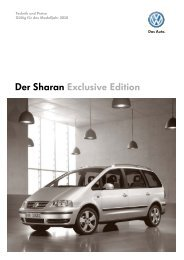 Der Sharan Exclusive Edition - Tauwald Automobile