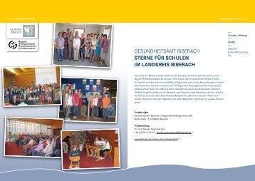 Gesundheitsamt BiBerach SterNe für SchuleN im laNdkreiS BiBerach